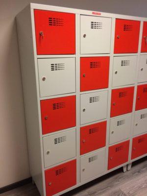 Personigo lietu skapis ar 15 durvim SUS 435 W 3 x 400 mmx5 gab.