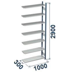 Cinkoti metala modulu plaukti Metro 300 x 1000 x H2900 mm, papildsekcija W0062