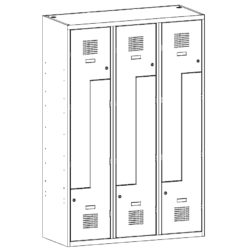 Drebju skapis ar Z-veida durvim SUL 43 W 3 x 400 mm