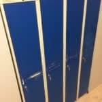 Garderobes skapis Metal Desing 4x300 mm, lietots