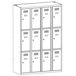 Gerbtuves skapisi SUS 343 W 4 x 300 mm 12 durvis