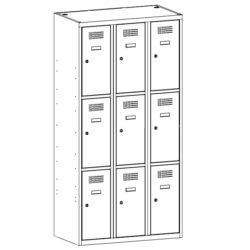 Gerbtuvju skapji SUS 333 W 3 x 300 mm 9 durvis