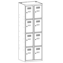 Metala skapis SUS 324 W 2 x 300 mm 8 durvis