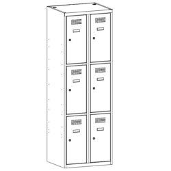 Metala skapji garderobem 6 durvis