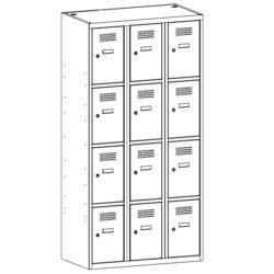 Personigo lietu skapis SUS 334 W 3 x 300 mm 12 durvis