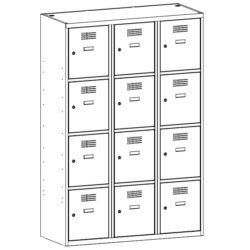 Personigo lietu skapis ar 12 durvim SUS 434 W 3 x 400 mm