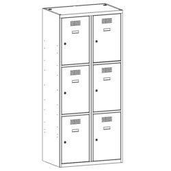 Personigo lietu skapis ar 6 durvim SUS 423 W 2 x 400 mm