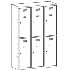 Personigo lietu skapis ar 6 durvim SUS 432 W 3 x 400 mm