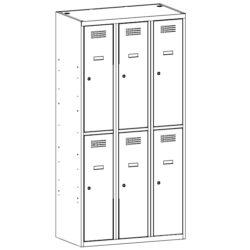 Personisko lietu skapis SUS 332 W 3 x 300 mm 6 durvis