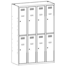 Personisko lietu skapis SUS 342 W 4 x 300 mm 8 durvis