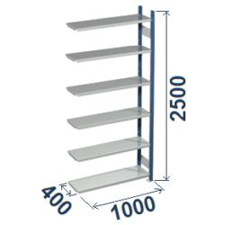 Cinkoti metala modulu plaukti Metro 400 x 1000 x H2500 mm, papildsekcija W0020