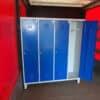 Drēbju skapis 4×400 mm,lietots h1865x1625x500mm LIELT414055