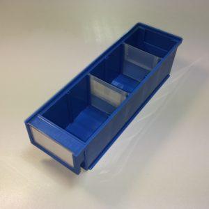 Plauktu kastes 300 x 92 x 82 mm, zilas lietotas treston