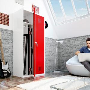 Mājsaimniecībā lietojams garderobes skapis 2 x 400 mm