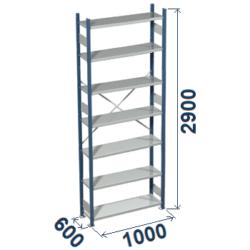 Cinkoti metala modulu plaukti Metro 600 x 1000 x H2900 mm, pamatsekcija M296010
