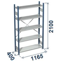 Cinkoti metala modulu plaukti Metro 400 x 1165 x H2100 mm, pamatsekcija M214011
