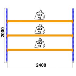 Universalais plaukts Longspan 800 x 2400 x H2000-43791