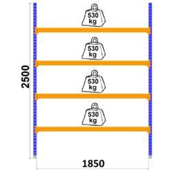 universalie-plaukti-longspan-1800-x-2500-x-800-mm-4-plaukti-pamatsekcija-2