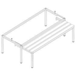 Izvelkams sols Pw331 W, 3-durvju garderobes skapim 3 x 300 mm