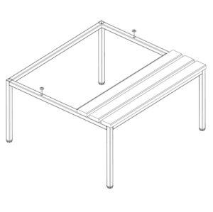Sols P421 W, garderobes skapim 2 x 400 mm (zimejums)