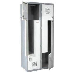 Z-veida durvju garderobes skapis SUL 42 W 2 x 400 mm