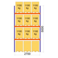 Palesu plaukti Premium, 2700 mm x 5000 pamatsekcija L0103