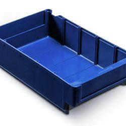 Plastmasas kaste 300 x 188 x H82 mm, 3,0 L, zila, 4531
