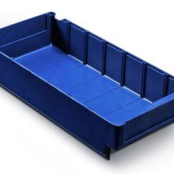 Plastmasas kaste 400 x 188 x H82 mm, 4,0 L, zila, 4530