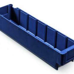 Plastmasas kaste 400 x 94 x H82 mm, 2,0 L, zila, 4532