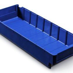 Plastmasas kaste 500 x 188 x H82 mm, 5,0 L, zila, 4536