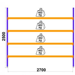 Universalais plaukts Longspan 800 x 2700 x H2500