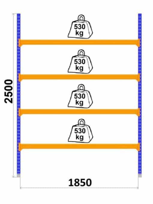 universalie-plaukti-longspan-1850-x-2500-x-800-mm-4-limeni-pamatsekcija
